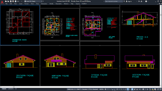 Wooden House 143 sqm [DWG]