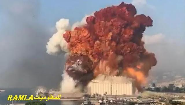 انفجار لبنان, تصريحات الحكومة اللبنانية والرد الصهيوني,  اللحظات الأولي للإنفجار