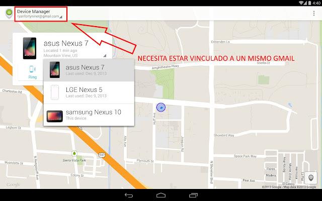 como rastrear celular android