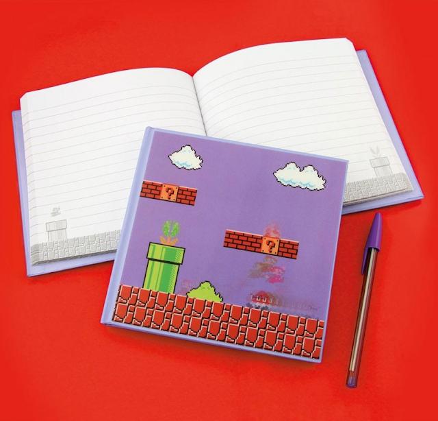 Libreta cuaderno de Super Mario
