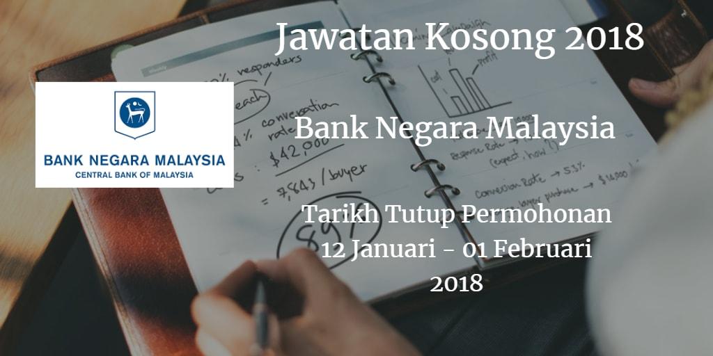 Jawatan Kosong BNM 12 Januari - 01 Februari 2018