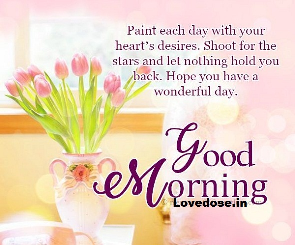 Good morning text image for her