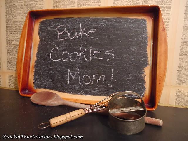 Chalk It Up Repurposed Baking Pan Into Chalkboard