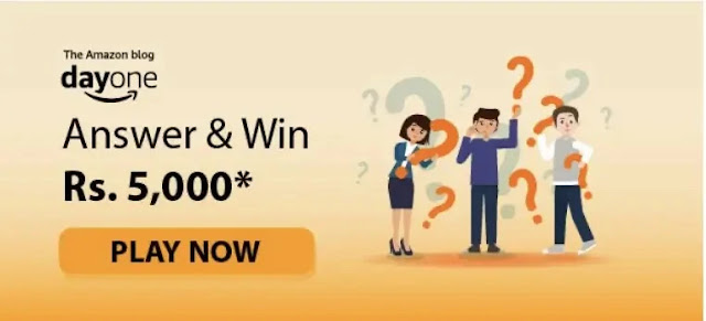 Amazon Day One Quiz Answers Win – Rs.5000 (20 Prize)