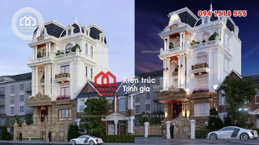 Mẫu biệt thự 4 tầng tân cổ điển đẹp sang lộng lẫy ở Hà Nội - Mã số BT2820 - Ảnh 4