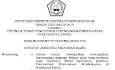 Terbaru Juknis Penyusunan RPP Untuk RA Tahun 2019 ( SK Dirjen No 2762 Tahun 2019