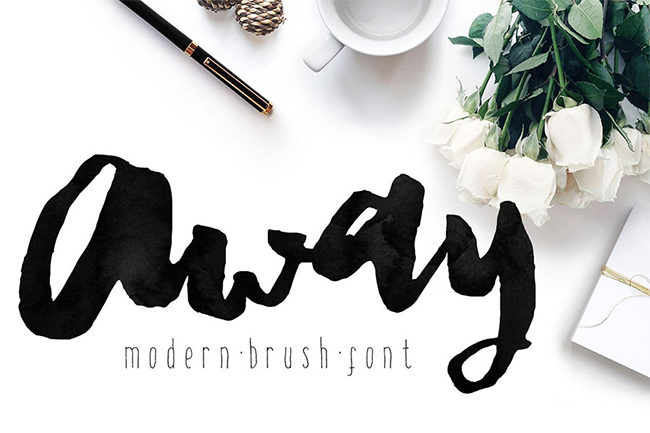 Away Font, Modern Brush Calligraphy par mycandythemes