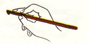 как правильно держать крючок при вязании