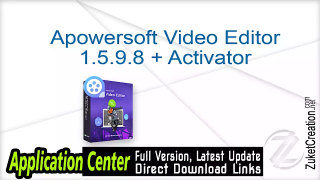 Apowersoft Video Editor 1.5.9.8 + Activator
