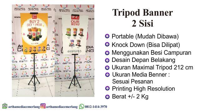 Tripod Banner 2 Sisi