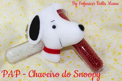 "alt=""lembrancinha Snoopy em feltro"""