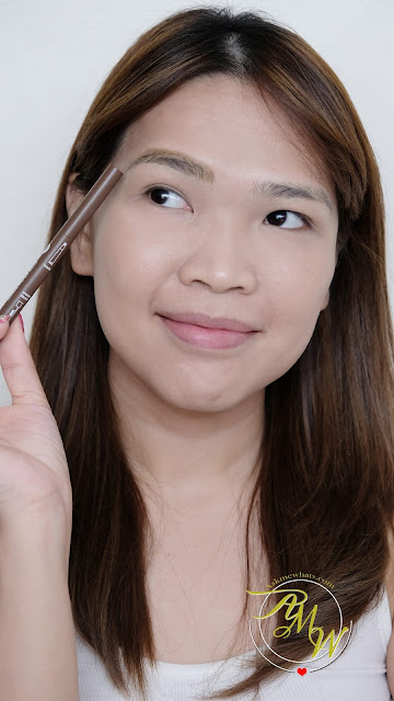 a photo of Cathy Doll Soft Brow Pencil & Spoon Brush Review in shade Hot Caramel Brown by Nikki Tiu