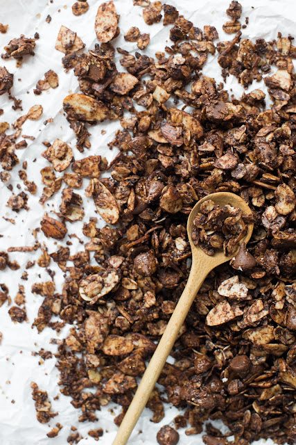Sweet and Salty Chocolate Granola