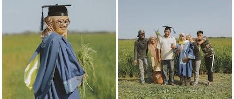 Hasil keluarga jual nasi lemak dan tuai padi sawah, anak petani ini berjaya genggam segulung ijazah!