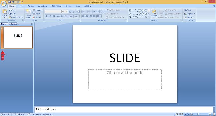 cara menambah slide baru di microsoft powerpoint