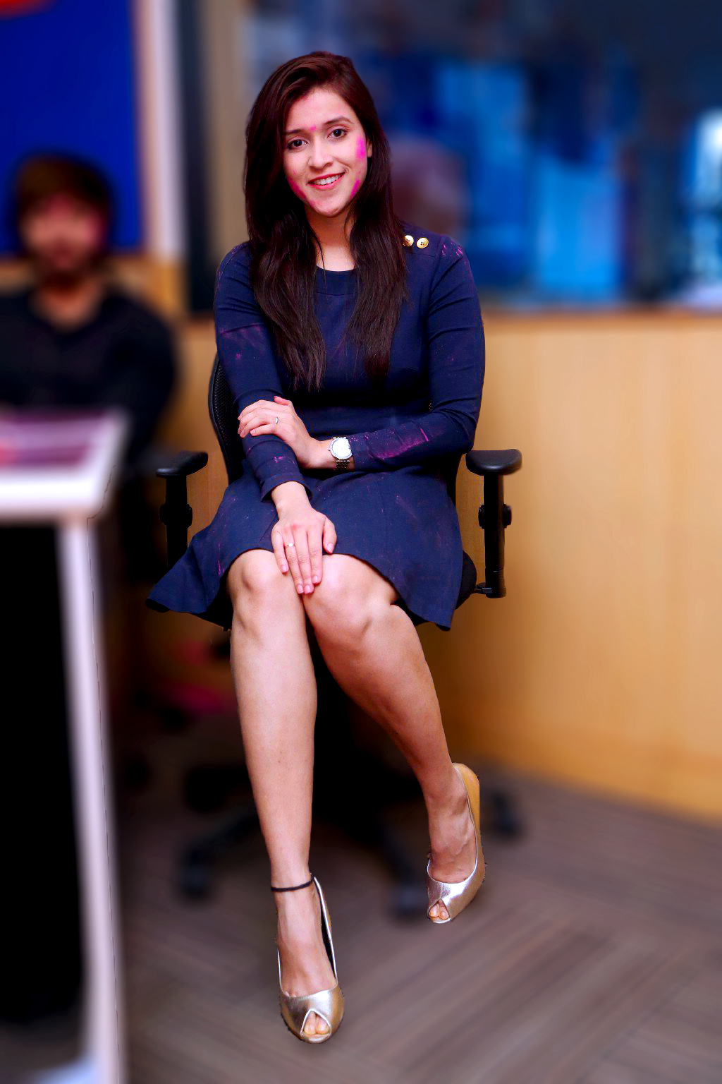 Mannara Chopra Flaunting Milky Legs At Radio City