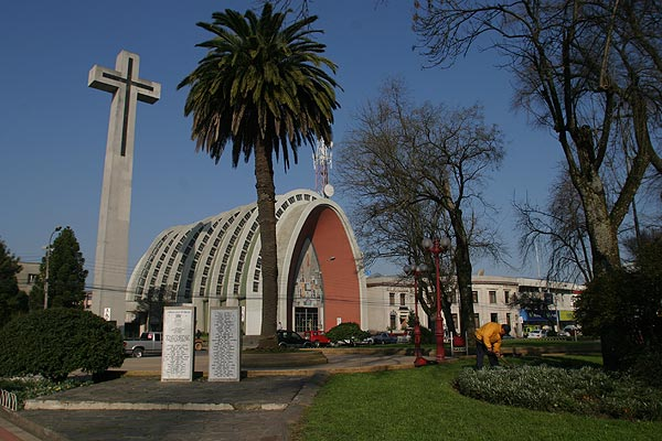 Cathedral, city of Chillan, Chile.