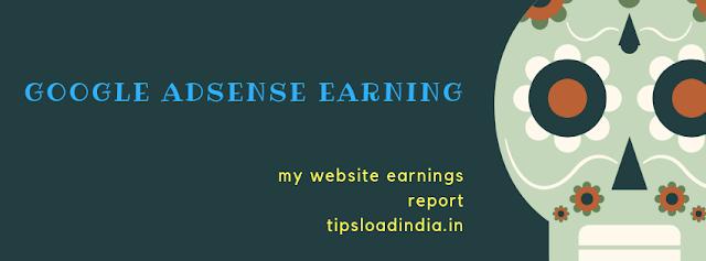Google AdSense earning report, Google AdSense earnings in india
