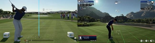 PGA Tour 2K21 vs The Golf Club 2019 Gameplay