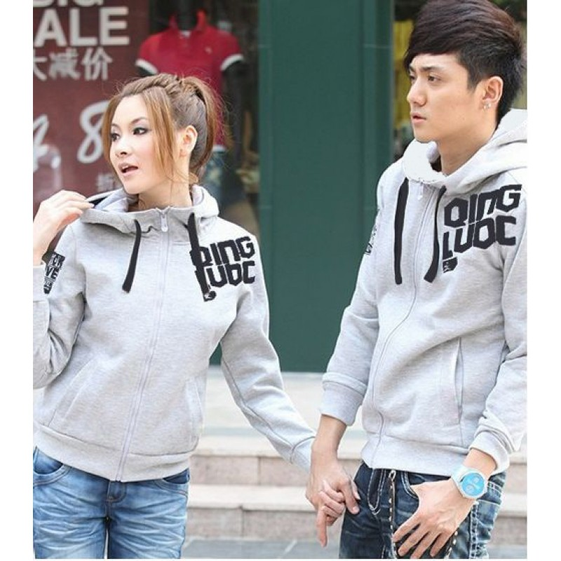 Jual Jacket Couple Jacket Grey Qing - 21902