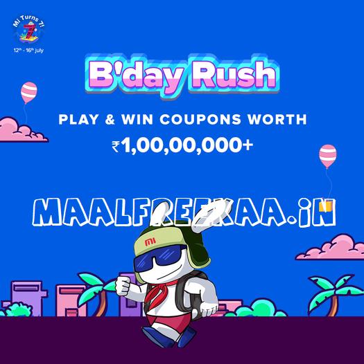 Birthday Rush Contest Win Mi Products FREE