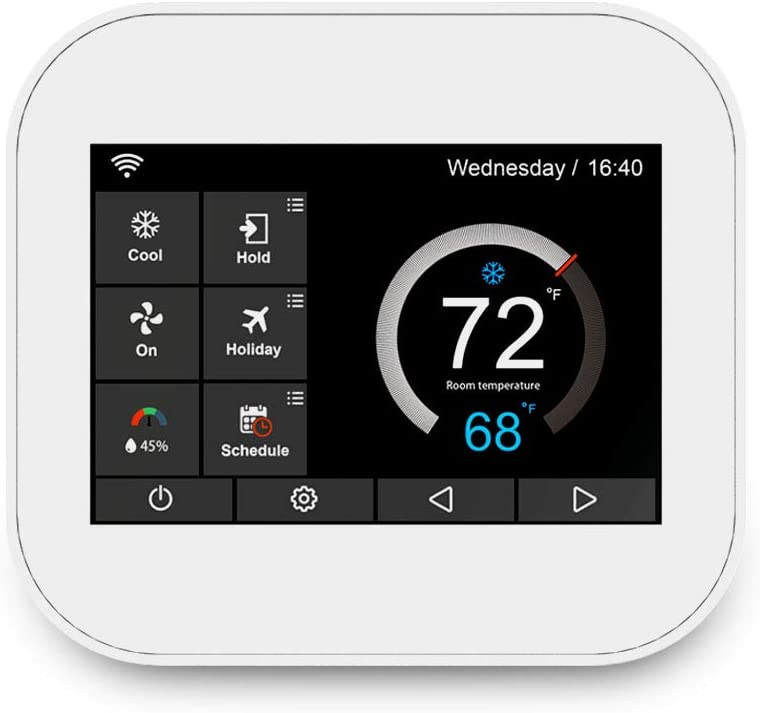 50% OFF Ubipol Smart Wifi 7days Programmable Home Thermostat With Humidifier/Dehumidifier Control, Works with Alexa, White