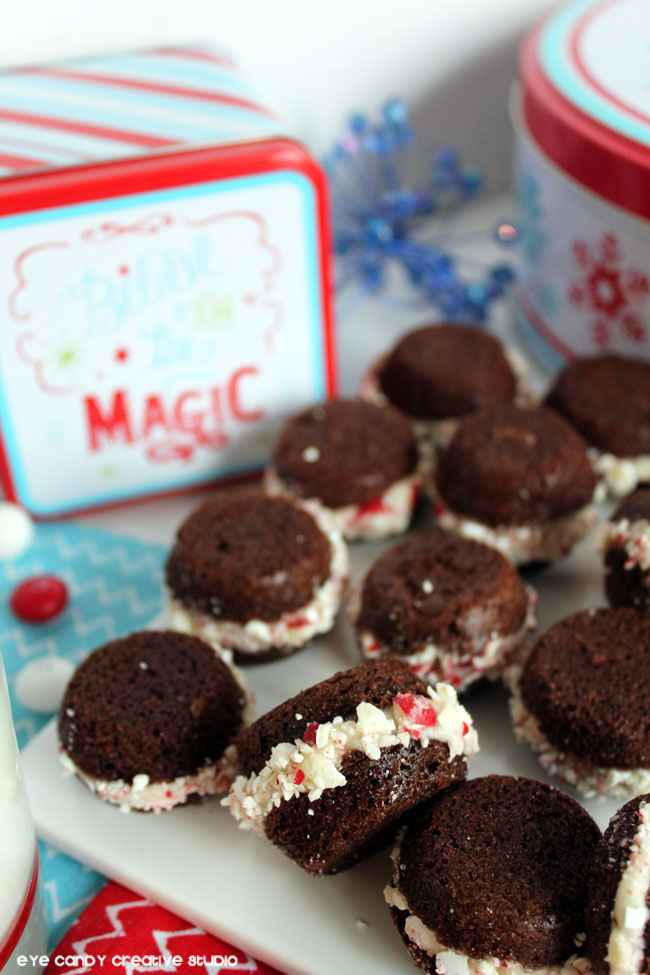 how to make mini whoopie pies, brownie recipe, holiday baking