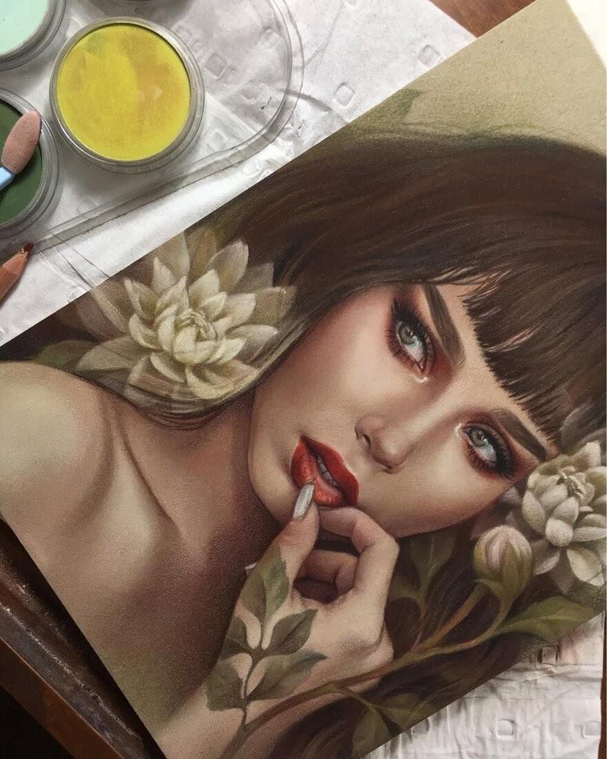 12-@lupescuevas-Maria-Björnbom-Öberg-Distinctive-Style-in-Realistic-Portrait-Drawings-www-designstack-co