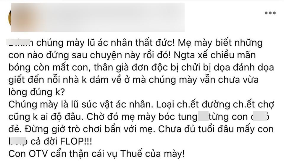 Ốc Thanh Vân chia sẻ lại một số bài đăng trên các hội nhóm với tính chất xúc phạm, đa số liên quan đến mối quan hệ giữa cô và cố diễn viên Mai Phương.