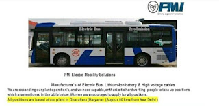 ITI, Diploma, B-Tech and Any Graduate Candidates Jobs Vacancy in PMI Electro Mobility Solutions  Manufacturer's of Electric Bus, Lithium-ion battery in Dharuhera, Haryana