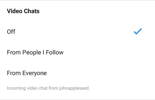 Cara Menonaktifkan Video Chat Call Instagram IG