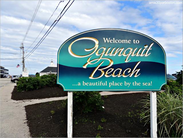 Cartel de Bienvenida a Ogunquit Beach