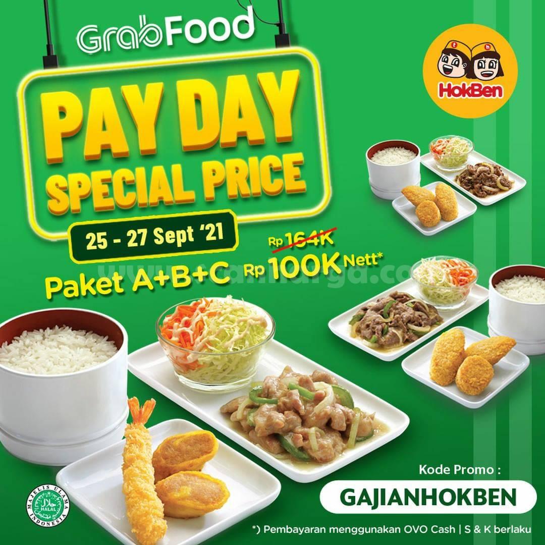 Promo HOKBEN GAJIAN PAYDAY Paket ABC GRABFOOD cuma Rp. 100.000 Nett