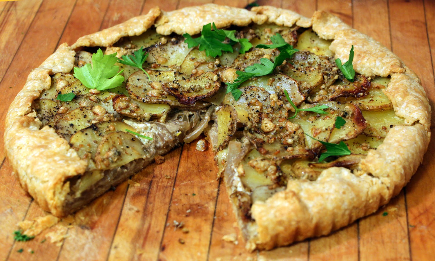 Potato Tart with Balsamic Glazed Onion and Blue Cheese ...