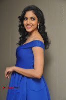 Actress Ritu Varma Pos in Blue Short Dress at Keshava Telugu Movie Audio Launch .COM 0042.jpg