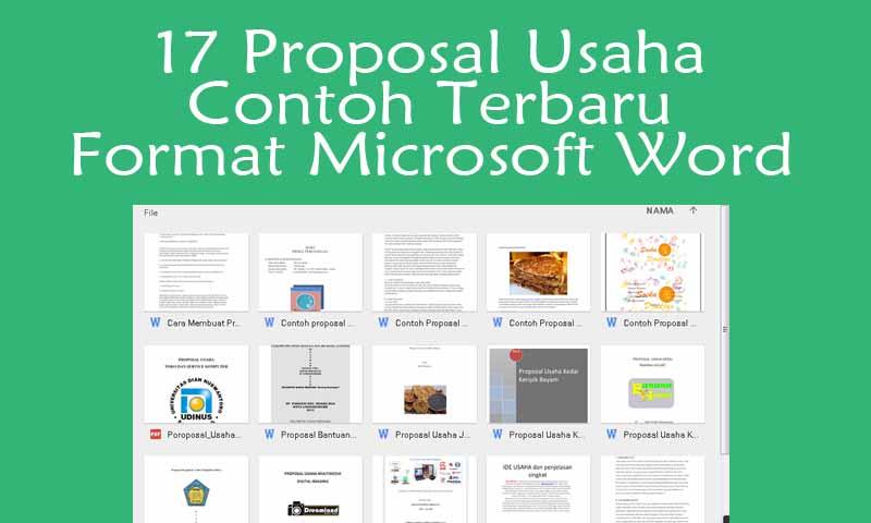 17 Proposal Usaha Contoh Terbaru Format Microsoft Word