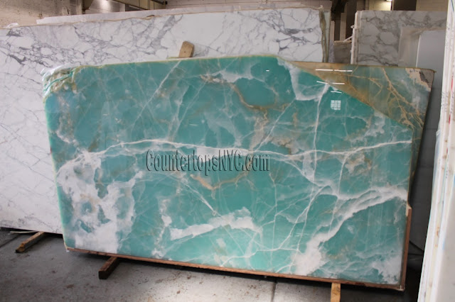 Spring Green Onyx slabs