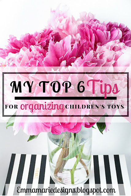 My Top 6 Tips for Organizing Children's Toys