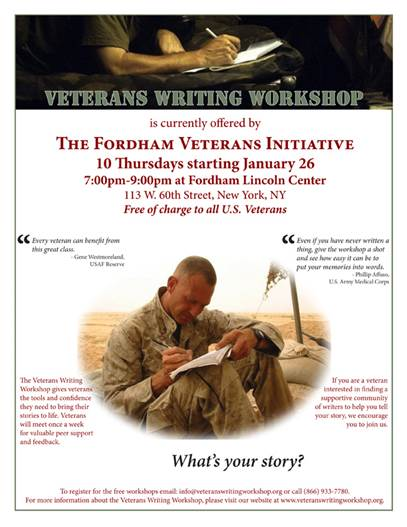 http://www.veteranswritingworkshop.org/
