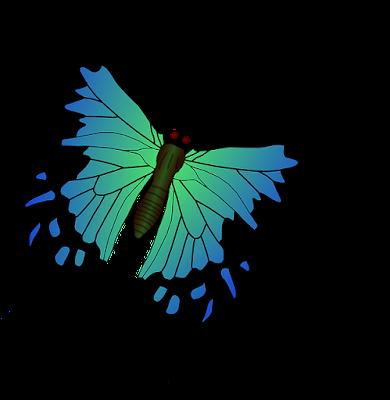 Gambar animasi kupu kupu png