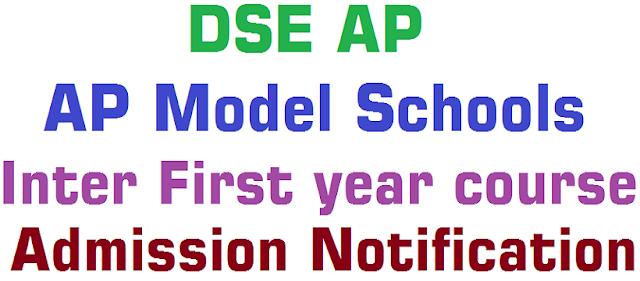 AP Model Schools,Inter Admissions,online application form