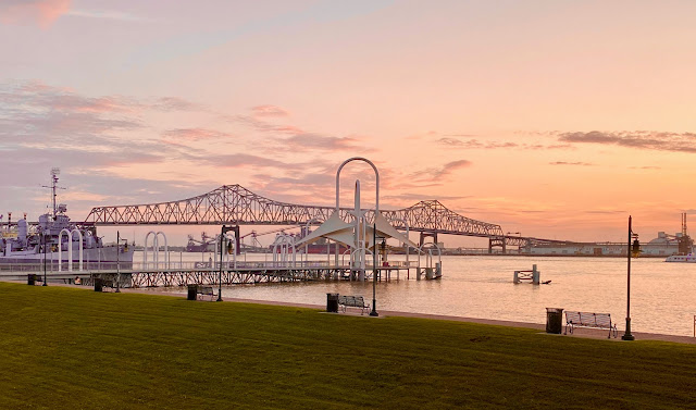 The Mississippi River Bridge in Baton Rouge