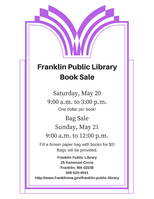 Franklin Public Library Book Sale, Saturday, May 20, 9:00 a.m. to 3:00 p.m.