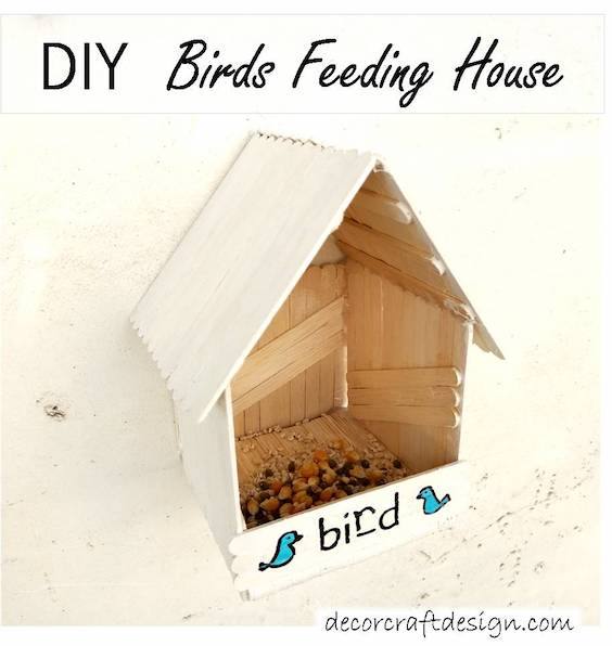 DIY Bird Feeding House Tutorial
