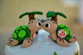 new turtles wedding cake topper design