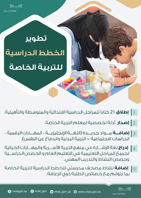 تطوير المناهج والخطط الدراسية لطلبة التربية الخاصة