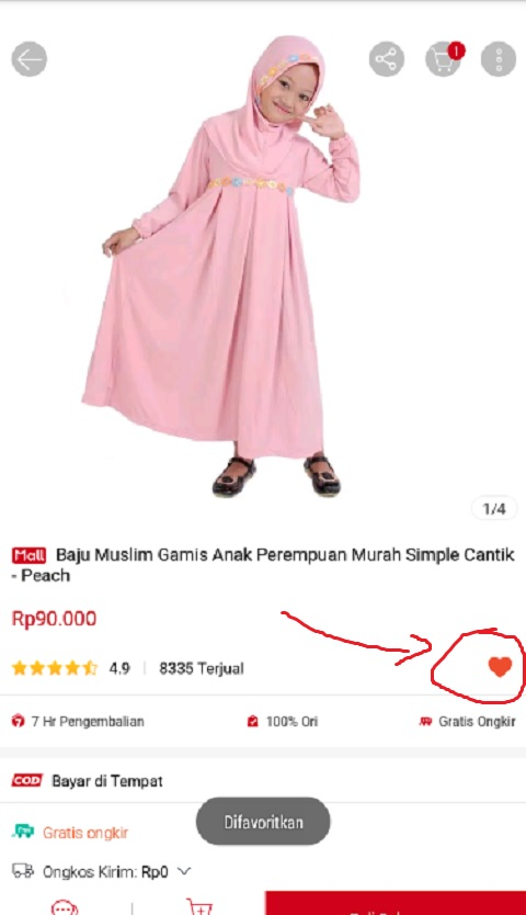 Wishlist Produk Favorit di Shopee
