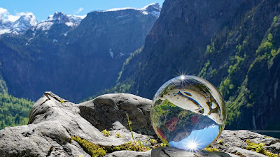 Nature glass ball photo wallpaper