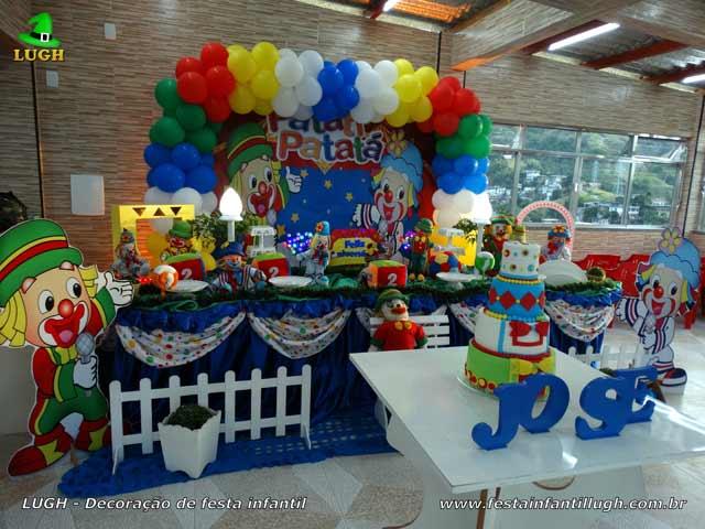 Decoração mesa de tecido luxo Patati Patatá - Festa infantil