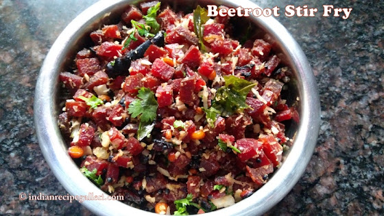 Beetroot Poriyal, Beetroot Vepudu